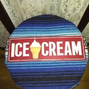 AN VINTAGE ICE CREAM PLAQUE